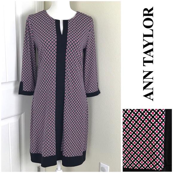 Ann Taylor Dresses & Skirts - 🦀 Ann Taylor Shift Dress 3/4 Sleeves Sz Small